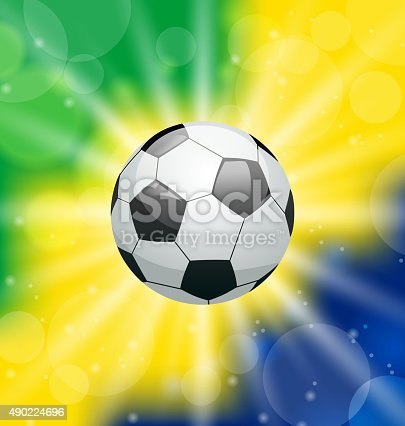istock Background with soccer ball, for Brazil 2014 490224696