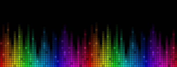 Background with sound scale. A color background with a sound scale. electronic music stock illustrations