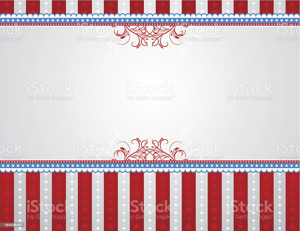 USA background with stars and  decorative frames. royalty-free stock vector art