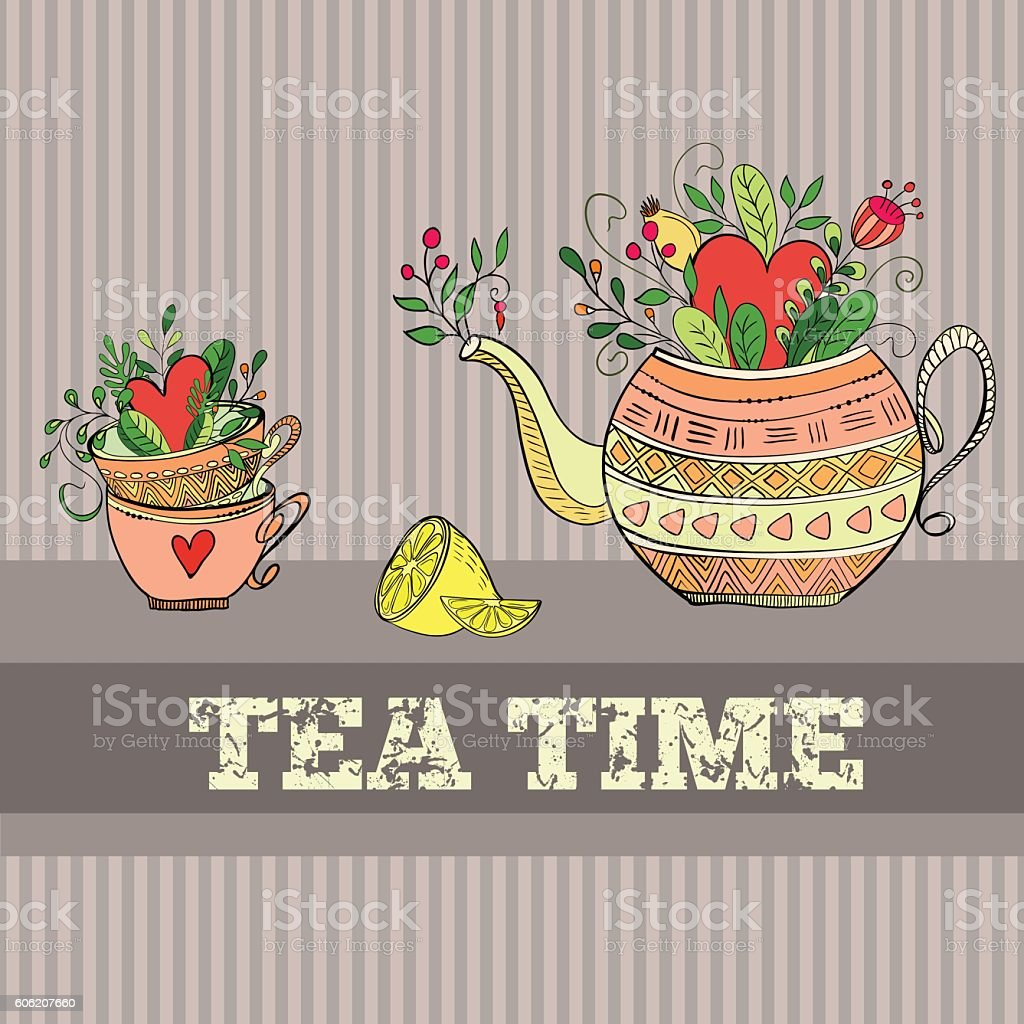 Background with teapot - Royalty-free Afternoon Tea stock vector