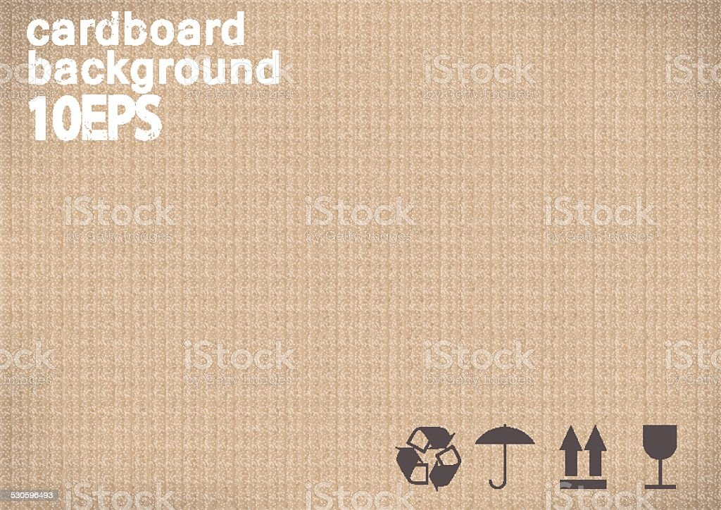 background with the real texture of cardboard with handling marks.vector illustration vector art illustration