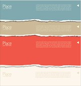 Torn paper background with space for text, vector illustration