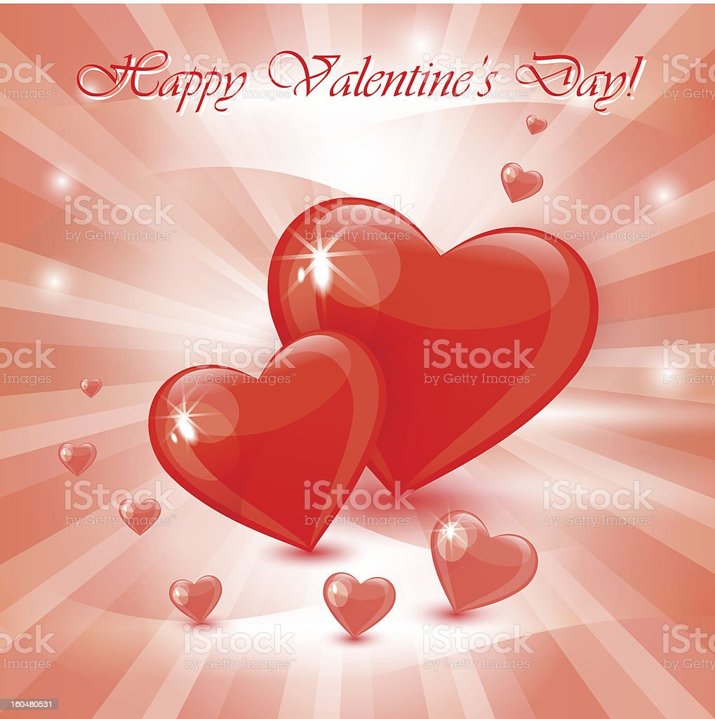 Background with two hearts royalty-free stock vector art
