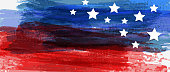 istock Background with USA painted flag 1245228255