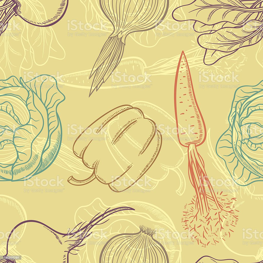 background with vegetables royalty-free stock vector art