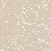 background with vintage clockfaces