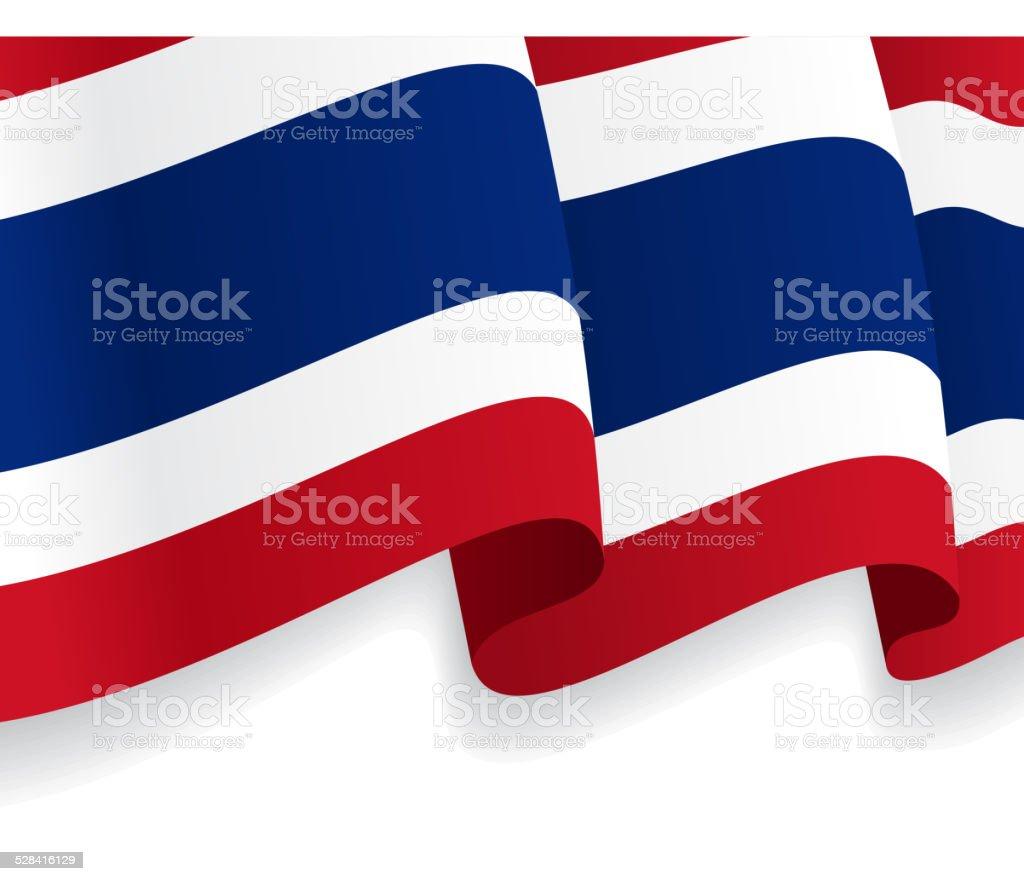 背景にタイ旗を振るます。ベクター ベクターアートイラスト