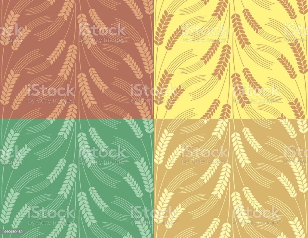 Background with wheat. vector art illustration