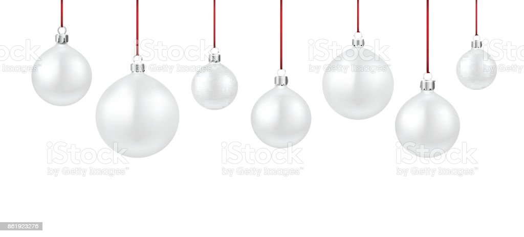 background with white christmas balls royalty free background with white christmas balls stock vector - White Christmas Balls