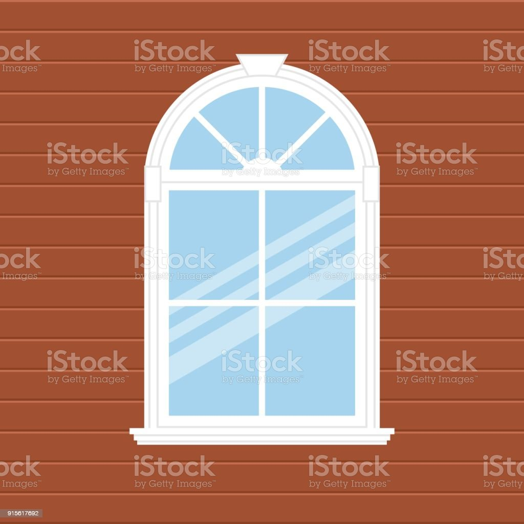 Background with window vector art illustration