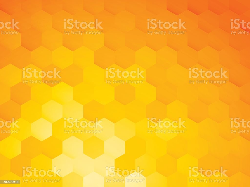 background with yellow hexagon vector art illustration
