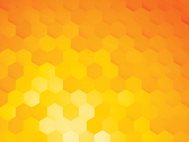 background with yellow hexagon background with yellow hexagon beehive stock illustrations