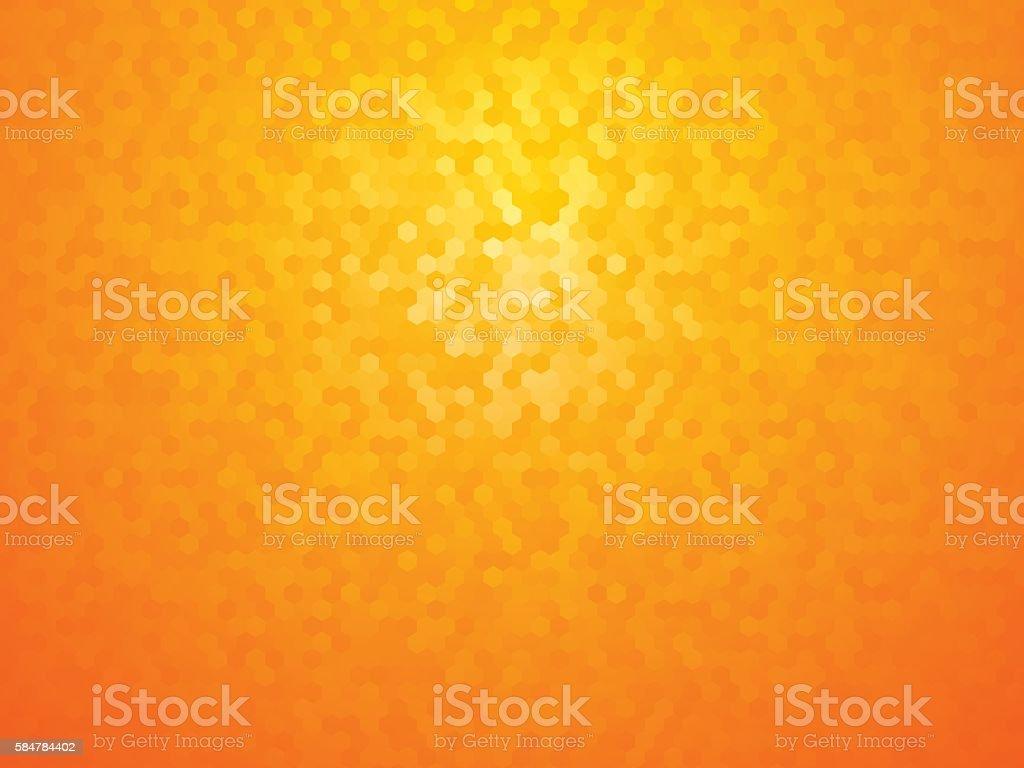 background with yellow orange hexagon vector art illustration