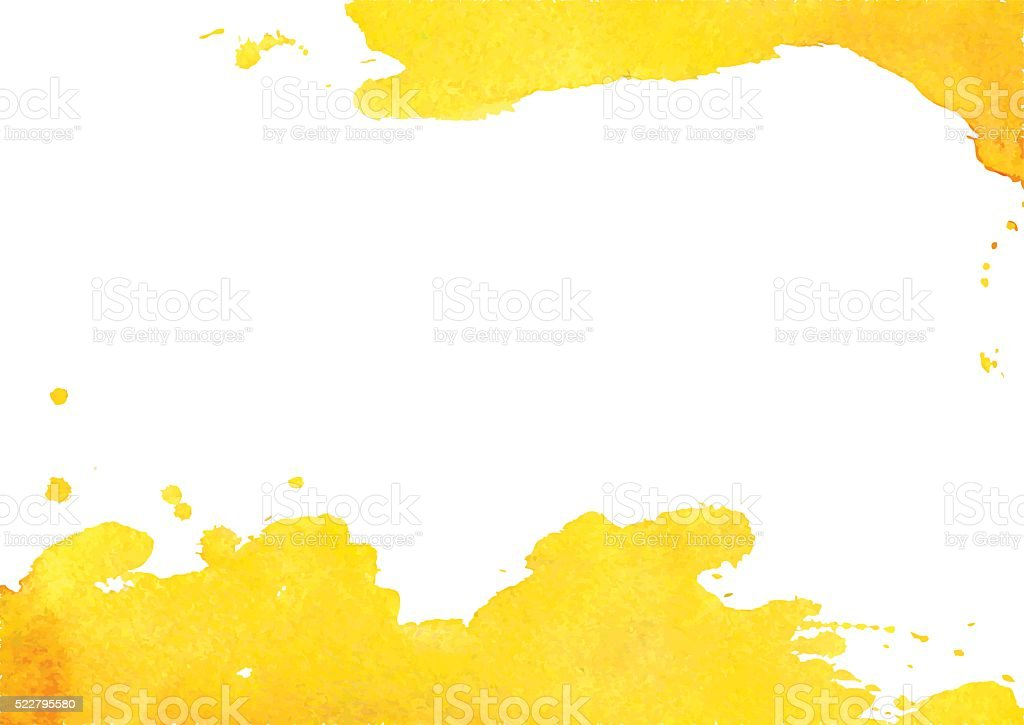 Background with yellow watercolor spot vector art illustration