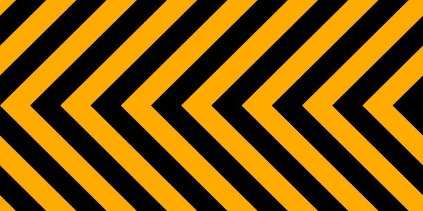 background yellow black stripes, industrial sign safety stripe warning, vector background warn caution construction Horizontal background yellow black stripes, industrial sign safety stripe warning, vector background warn caution construction stealth stock illustrations