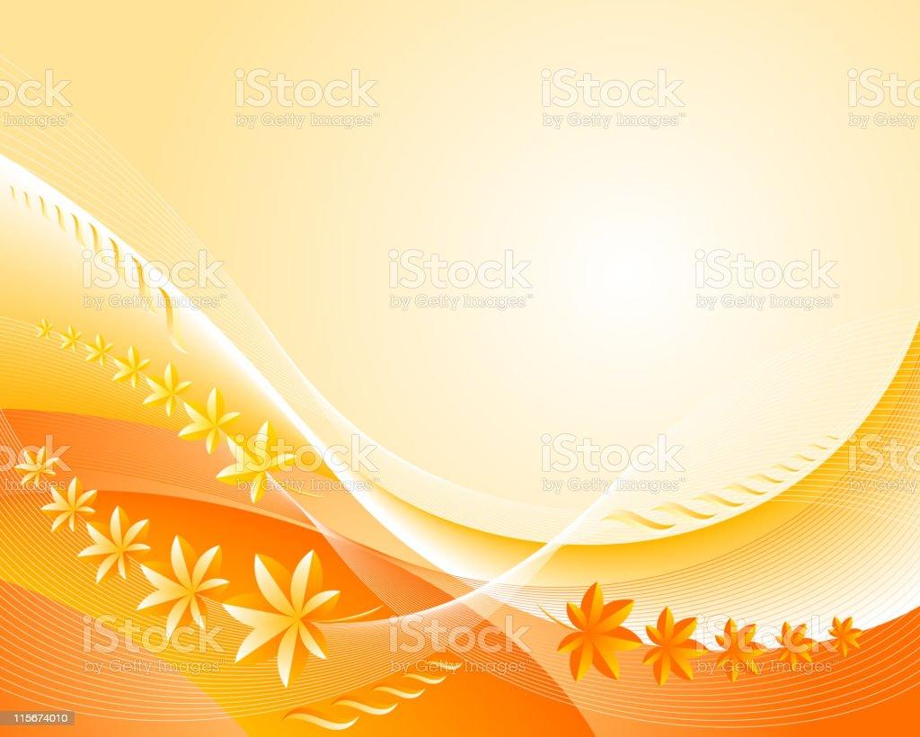 Background-orange vector art illustration