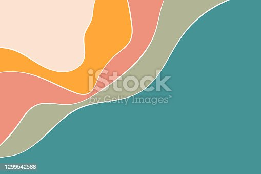 istock Backgrounds autumn colors flat style design 1299542566