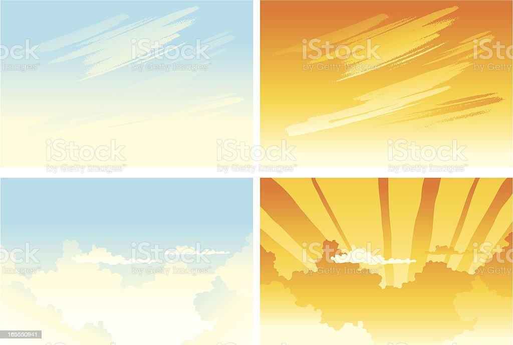 backgrounds de cielos vector art illustration