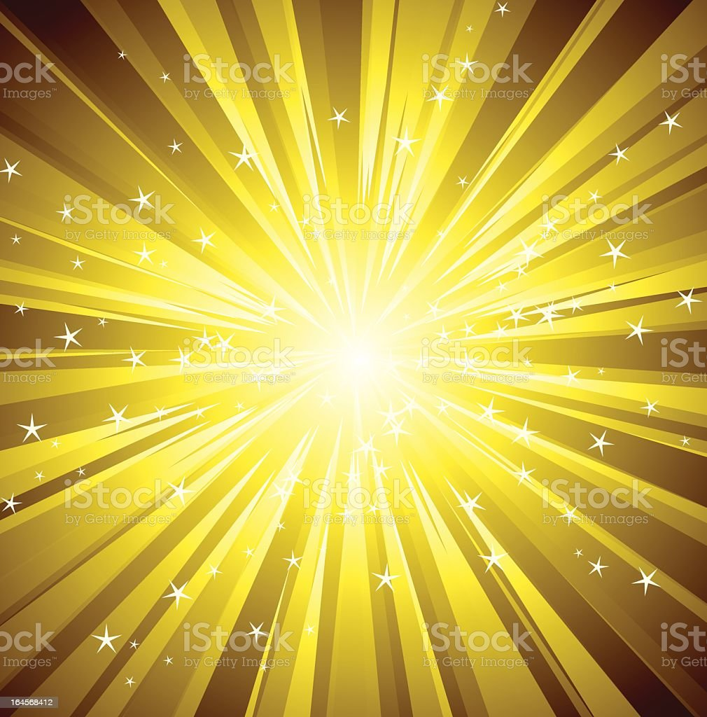 Backgrounds made up of golden rays of light royalty-free stock vector art