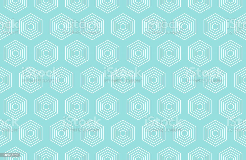 Backgrounds pattern seamless geometric green aqua hexagon abstract and white line vector design. Pastel color background. - Royalty-free Abstract stock vector
