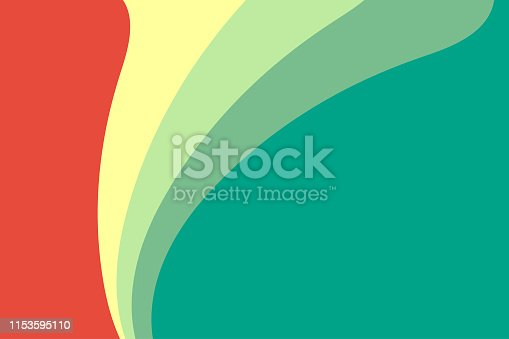 Vector illustration of a retro style background with flat colors