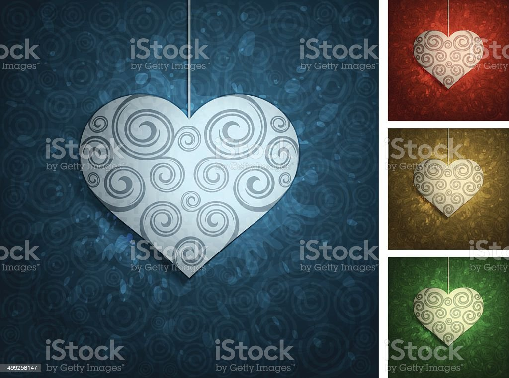 Backgrounds with heart vector art illustration