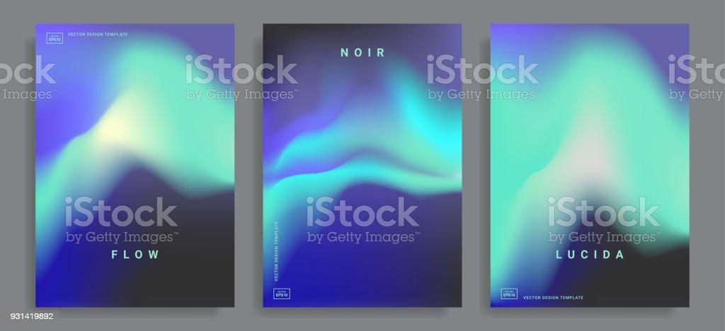 Hintergründe mit lebhaften Farbverlauf – Vektorgrafik