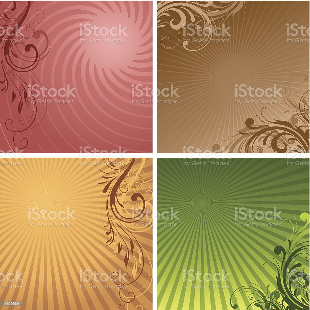 backgrounds_set royalty-free stock vector art