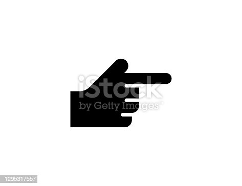 istock Backhand Index Pointing Right vector icon. Isolated Index Finger Pointing Direction Hand Gesture flat emoji symbol - Vector 1295317557