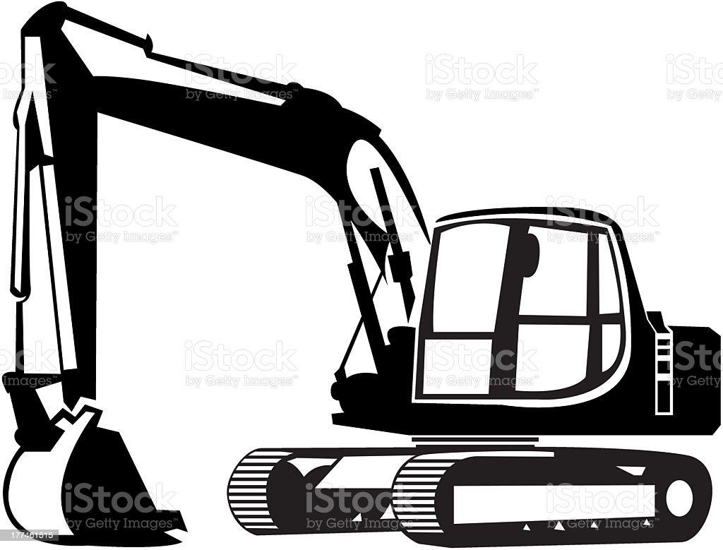 backhoe stock vector art more images of black color 177461515 istock rh istockphoto com backhoe clipart png clipart backhoe loader