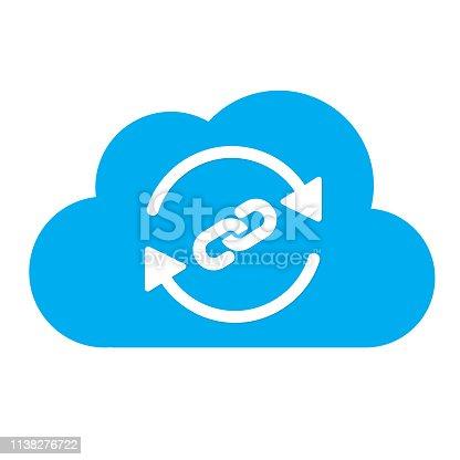 Backlink symbol -- cloud concept