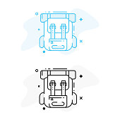 Backpack Illustration and Icon Design.