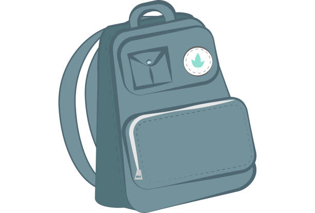 Backpack illustration vector art illustration