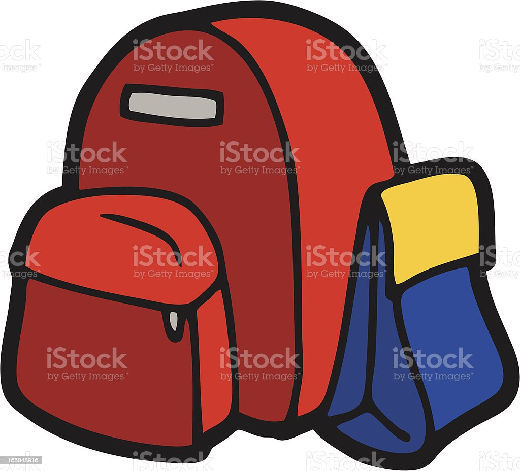 backpack & lunchbag royalty-free stock vector art