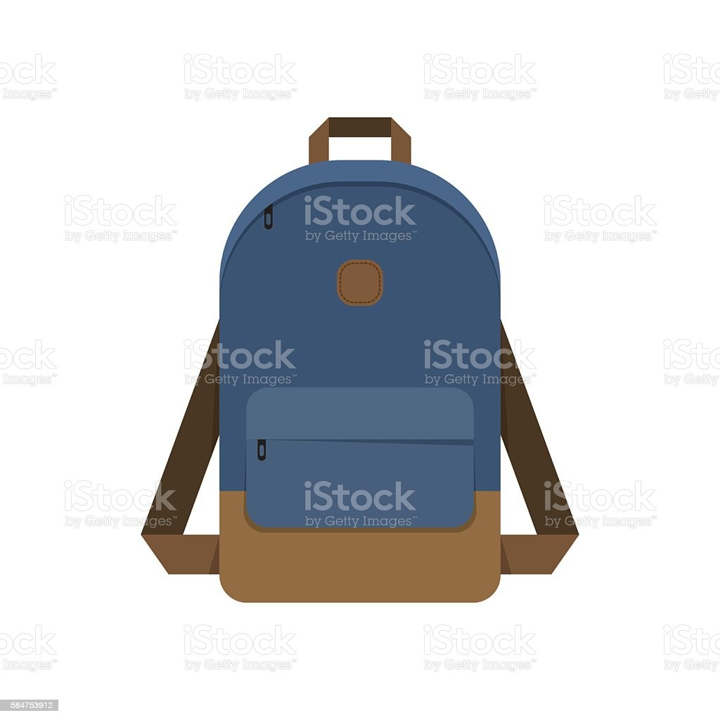 Backpack, school bag​​vectorkunst illustratie