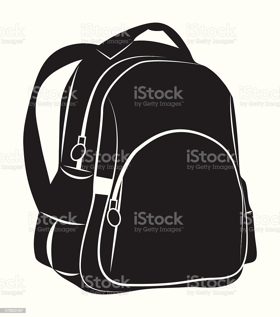Backpack​​vectorkunst illustratie