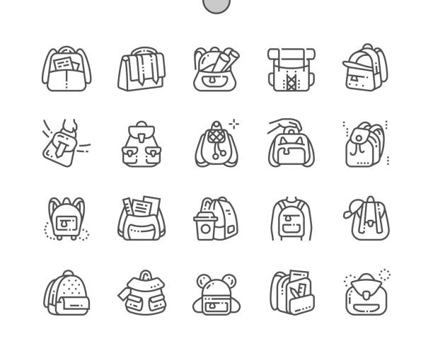 Best Open Backpack Illustrations Royalty Free Vector