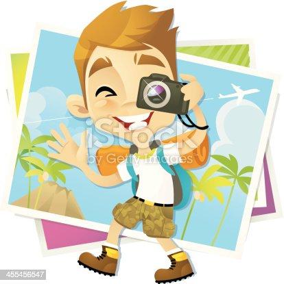 istock Backpacker Boy 455456547