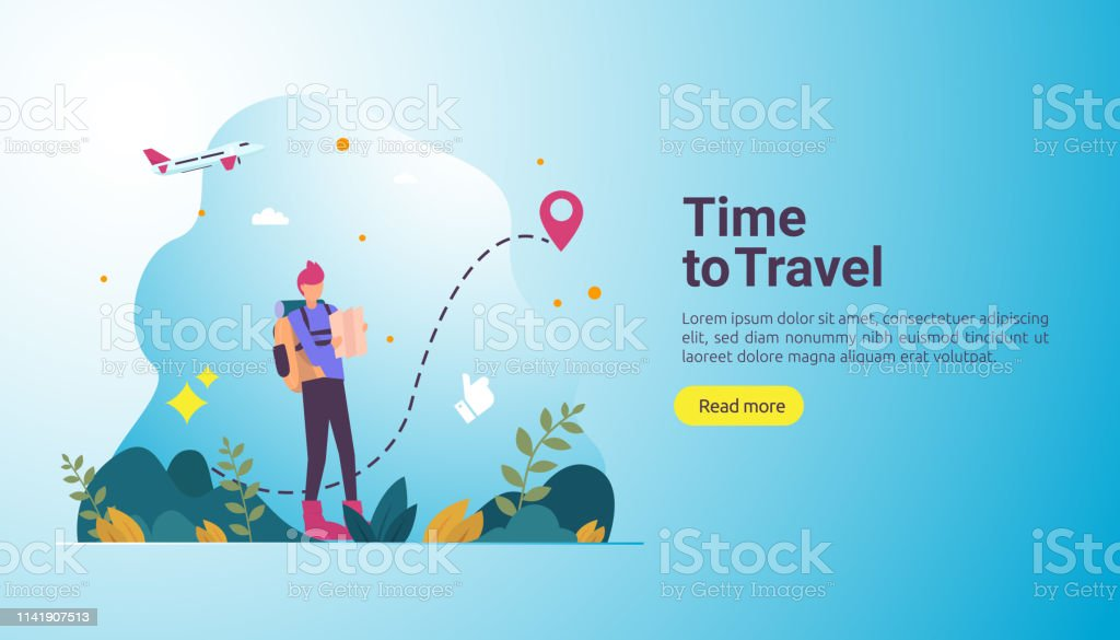 Backpacker Travel Adventure Concept Outdoor Vacation