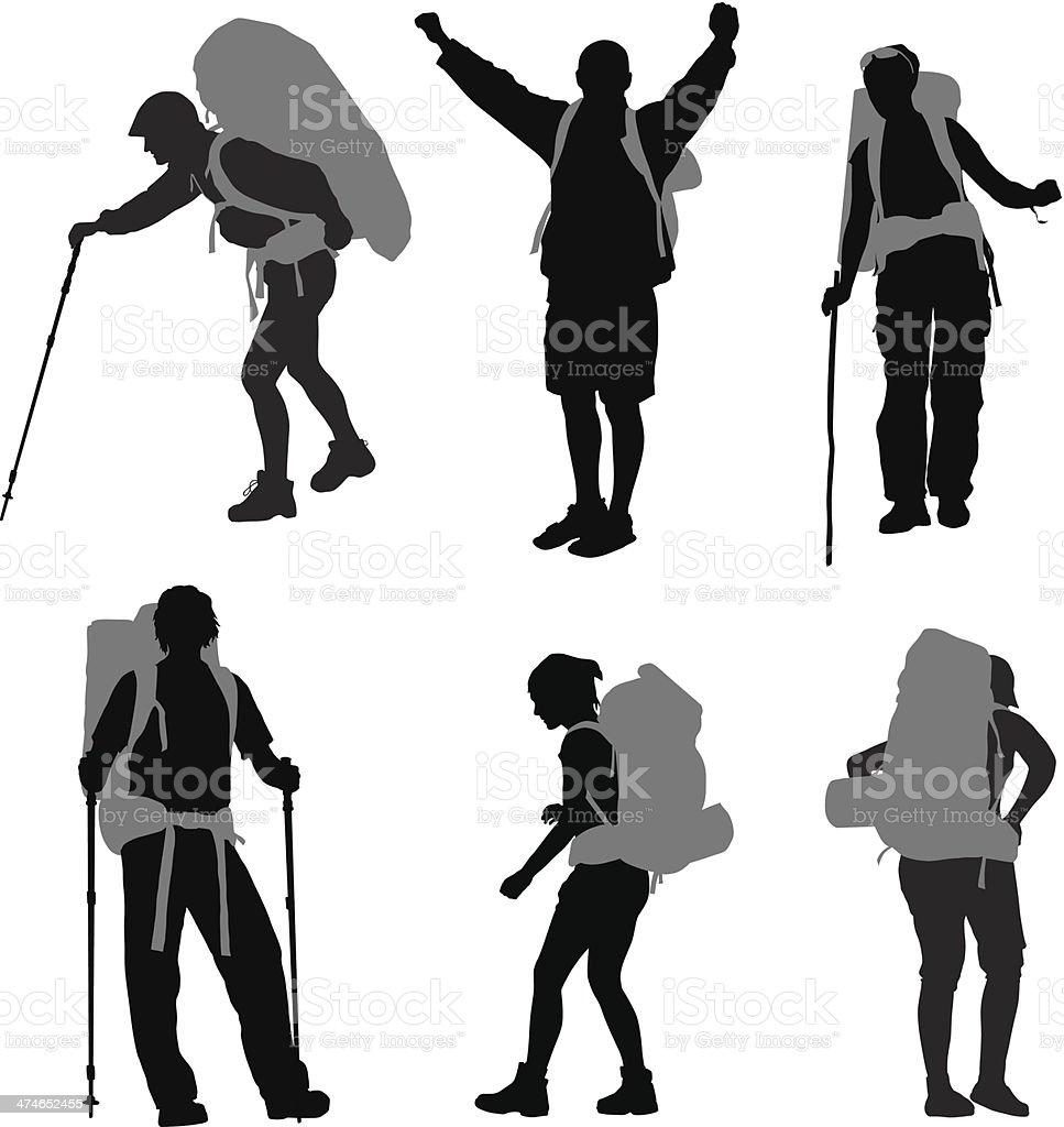Backpacker royalty-free stock vector art