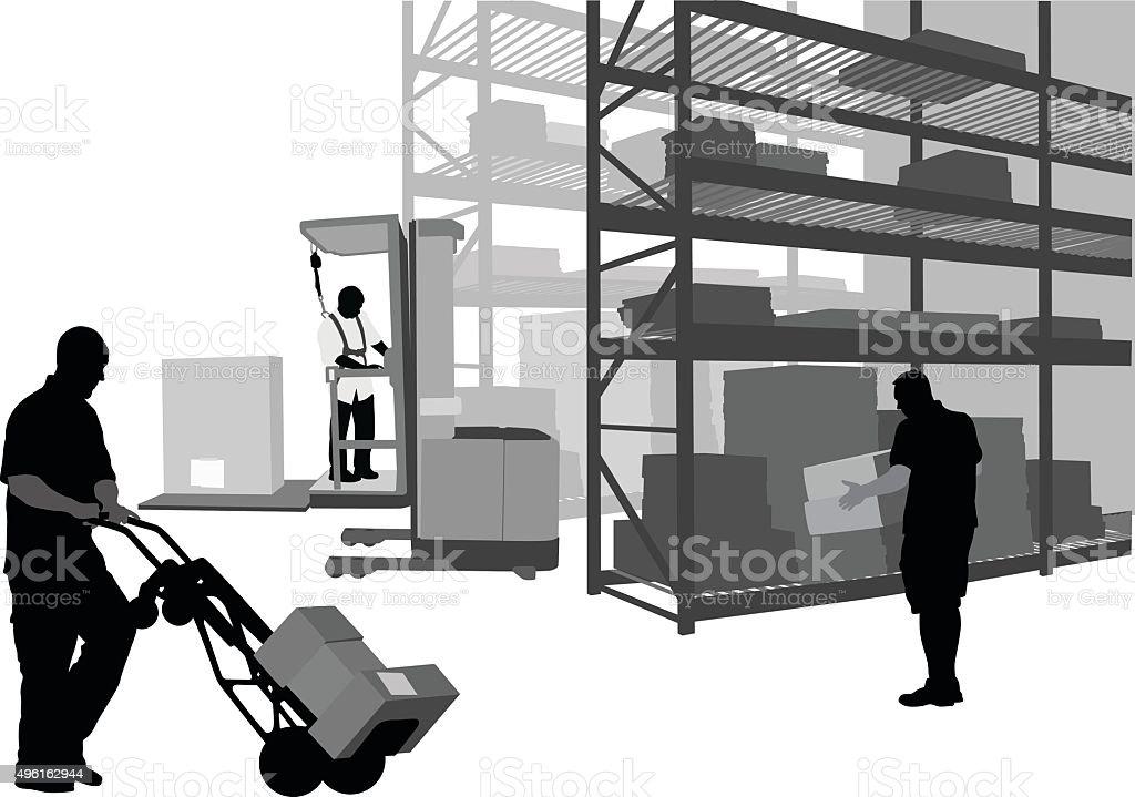 Backroom vector art illustration