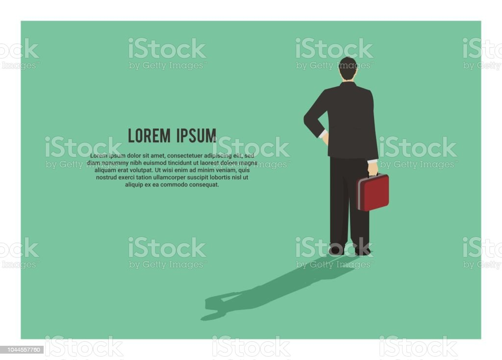 backside of a businessman, simple illustration