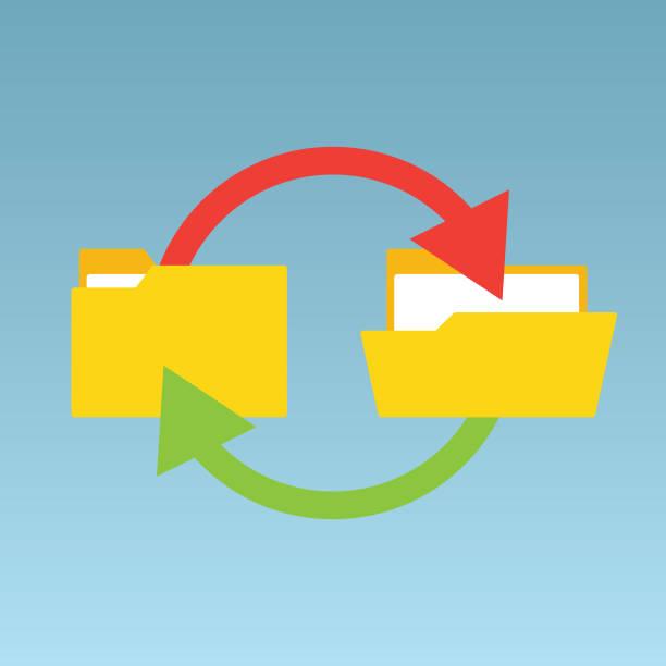 backup files - ring binder stock illustrations