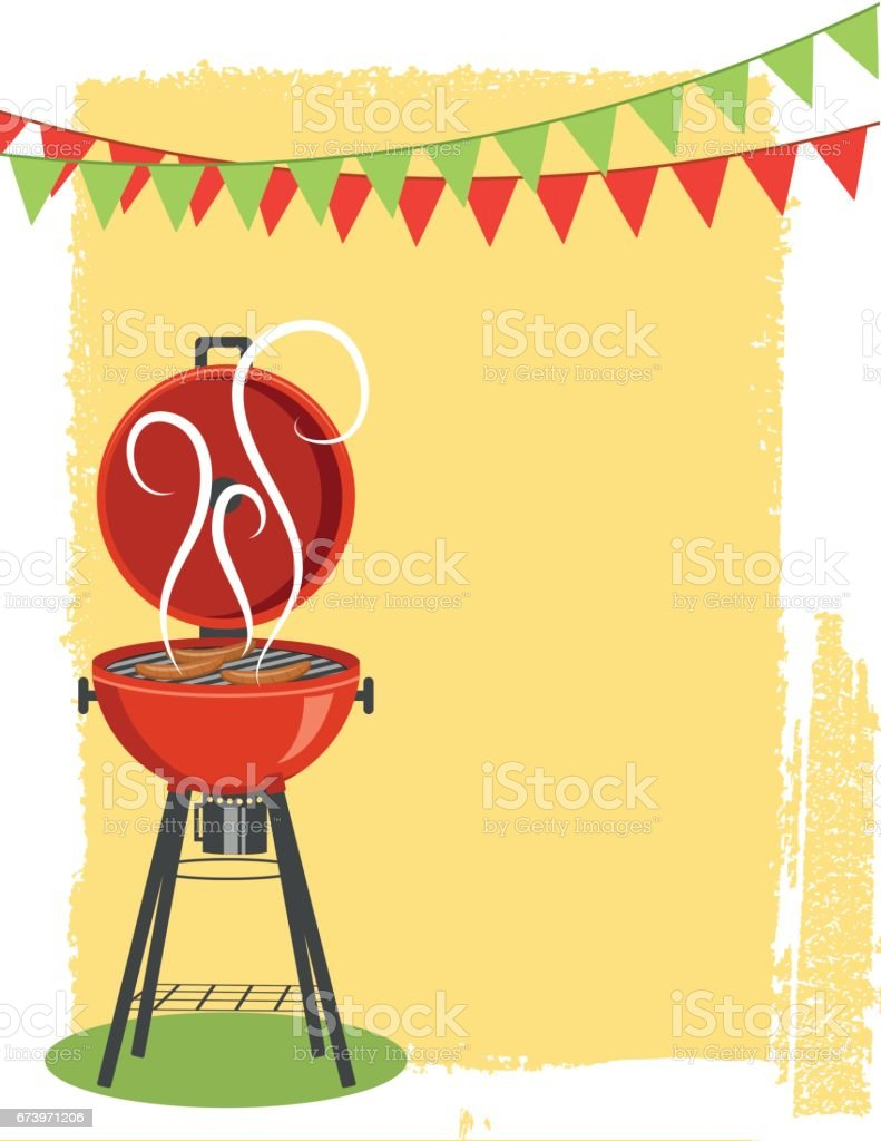Backyard BBQ Background Background vector art illustration