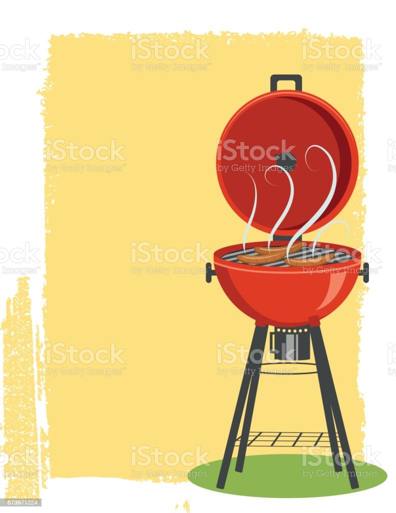 Backyard BBQ Background Background royalty-free backyard bbq background background stock vector art & more images of backgrounds