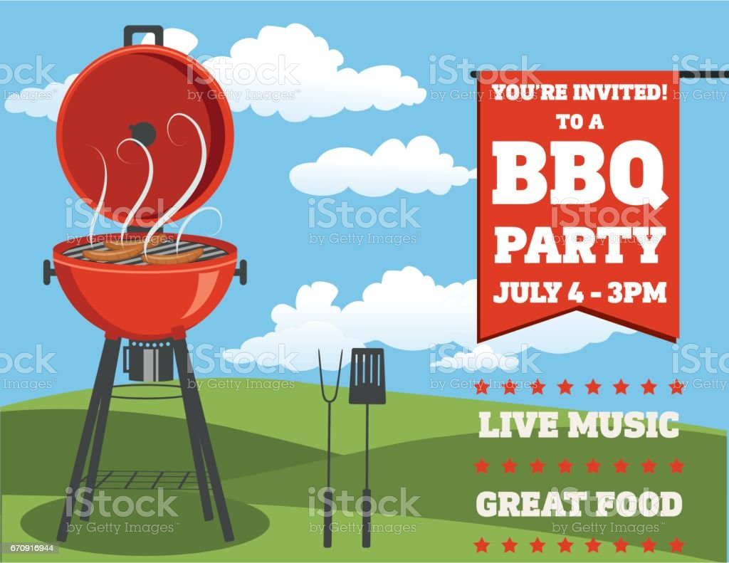 backyard bbq clip art vector images u0026 illustrations istock