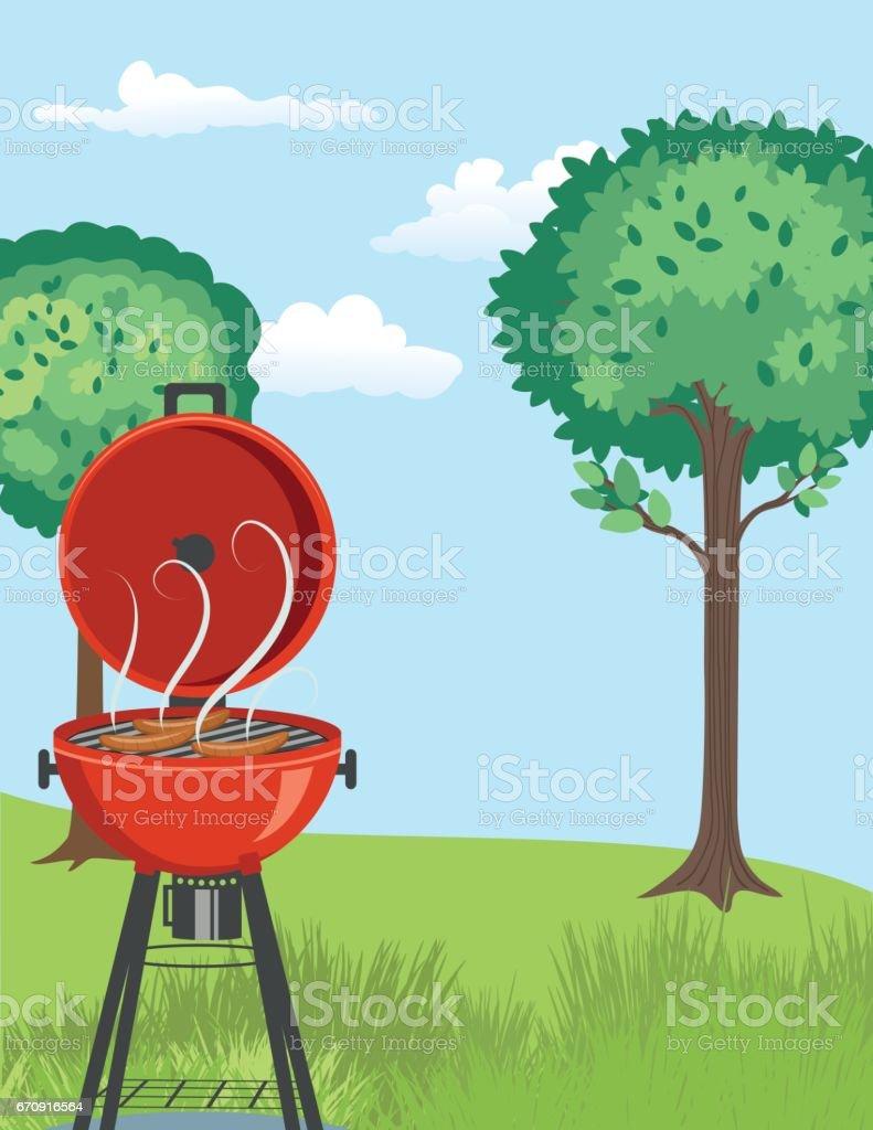 backyard bbq background stock vector art 670916564 istock