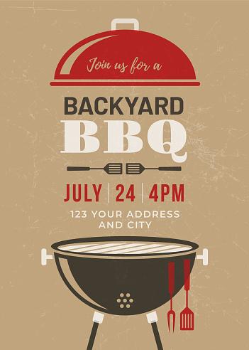 Backyard BBQ Party Invitation Template