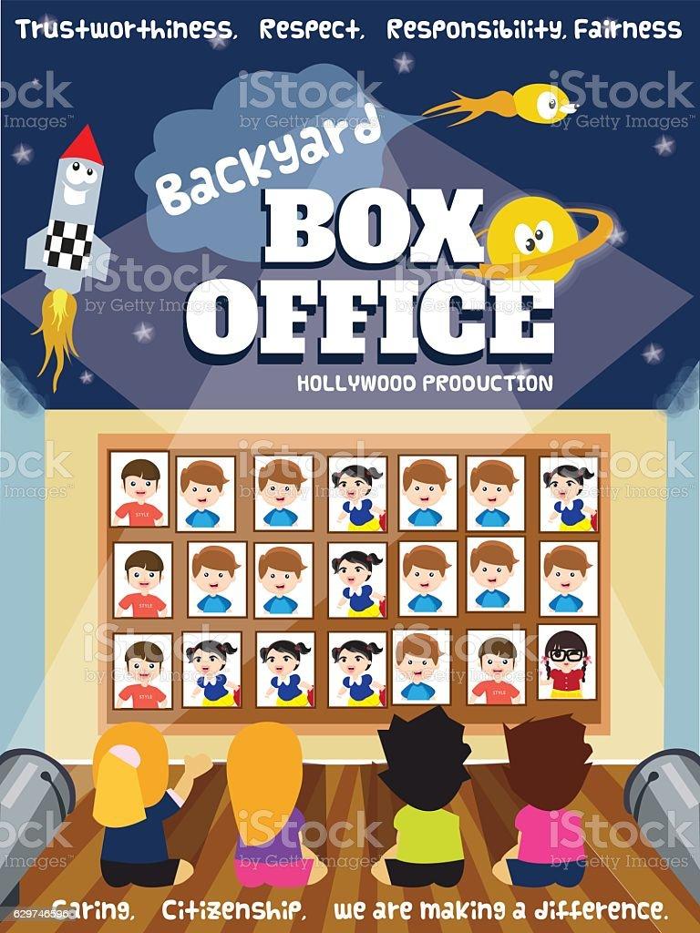 Backyard Box Office Poster Design Concept   Illustration .