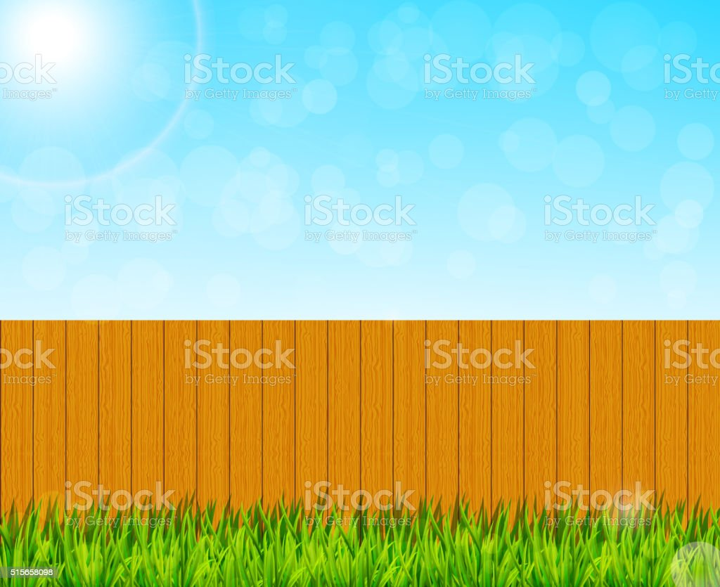 Backyard garden background vector art illustration